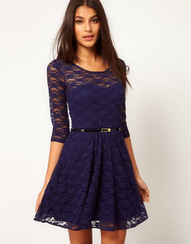 Womens Spring Autumn Elegant Vintage Lace Peplum See Through Sleeve Casual Party Special Occasion Sheath Fitted Bodycon Dress
