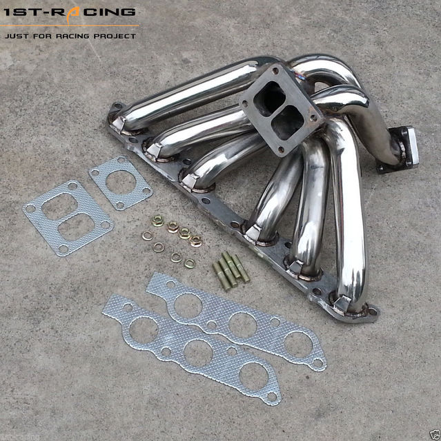 For Lexus IS300 GS300 2JZGE 2JZ-GE Turbo Exhaust Manifold Manifolds T4  Flange