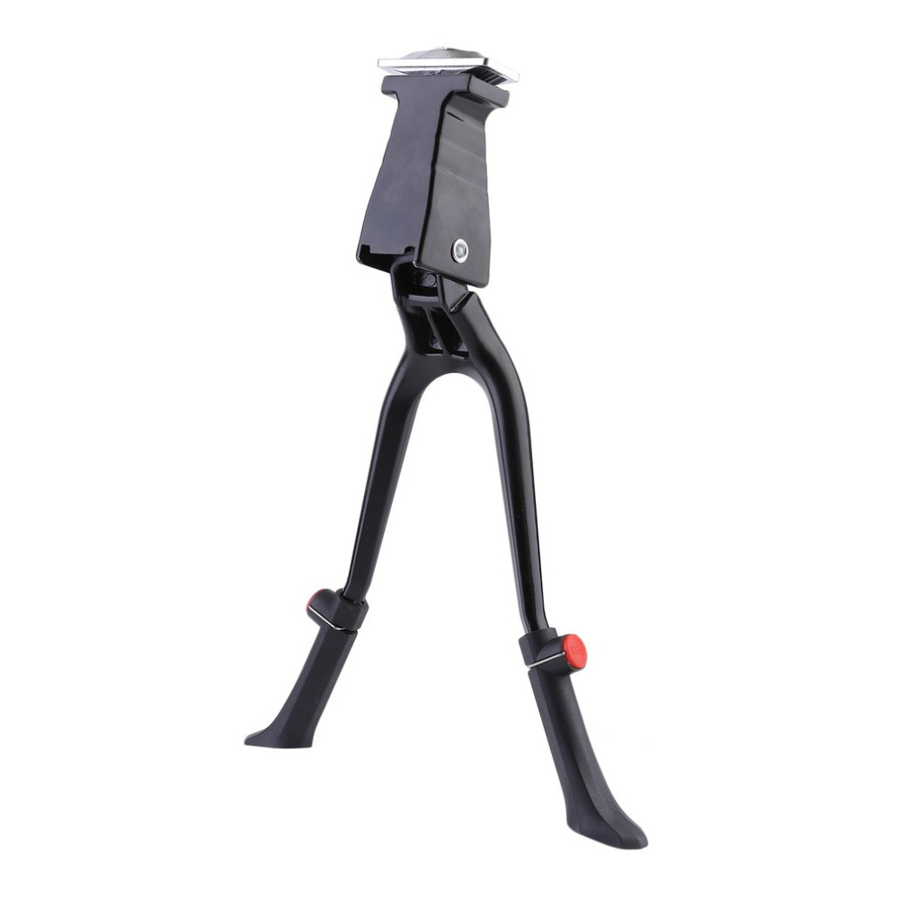 Double Leg Center Mount Bike Kickstand Aluminum Alloy MTB Road Cycling Parking Rack Mountain Bike Bicycles Foot Road Support Hot ...