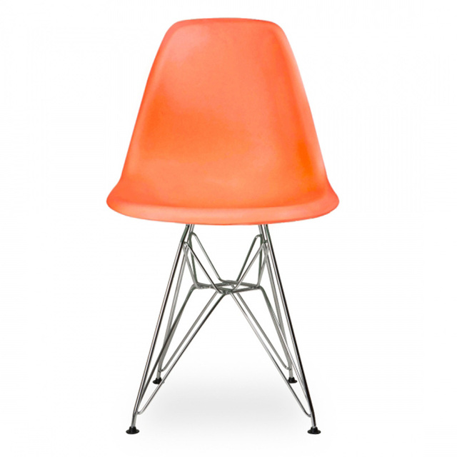 Marvelous 6 Pieces For A Lot Creative PP Plastic Side Chairs For Living Room Color  Orange
