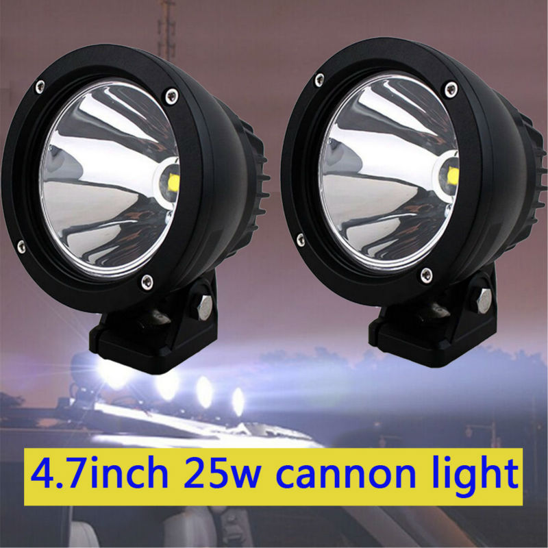 25W 4 5 inch Led Cannon Round Spot Driving Light Work Lamp Offroad 4WD Truck Motorcycle