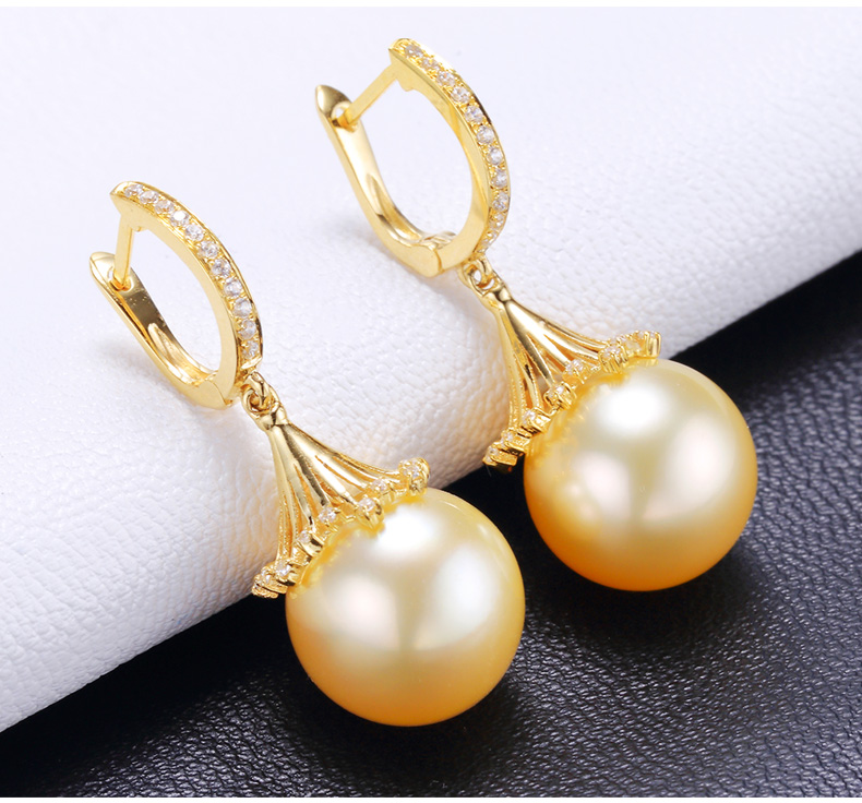 southsea pearls gold earrings 99
