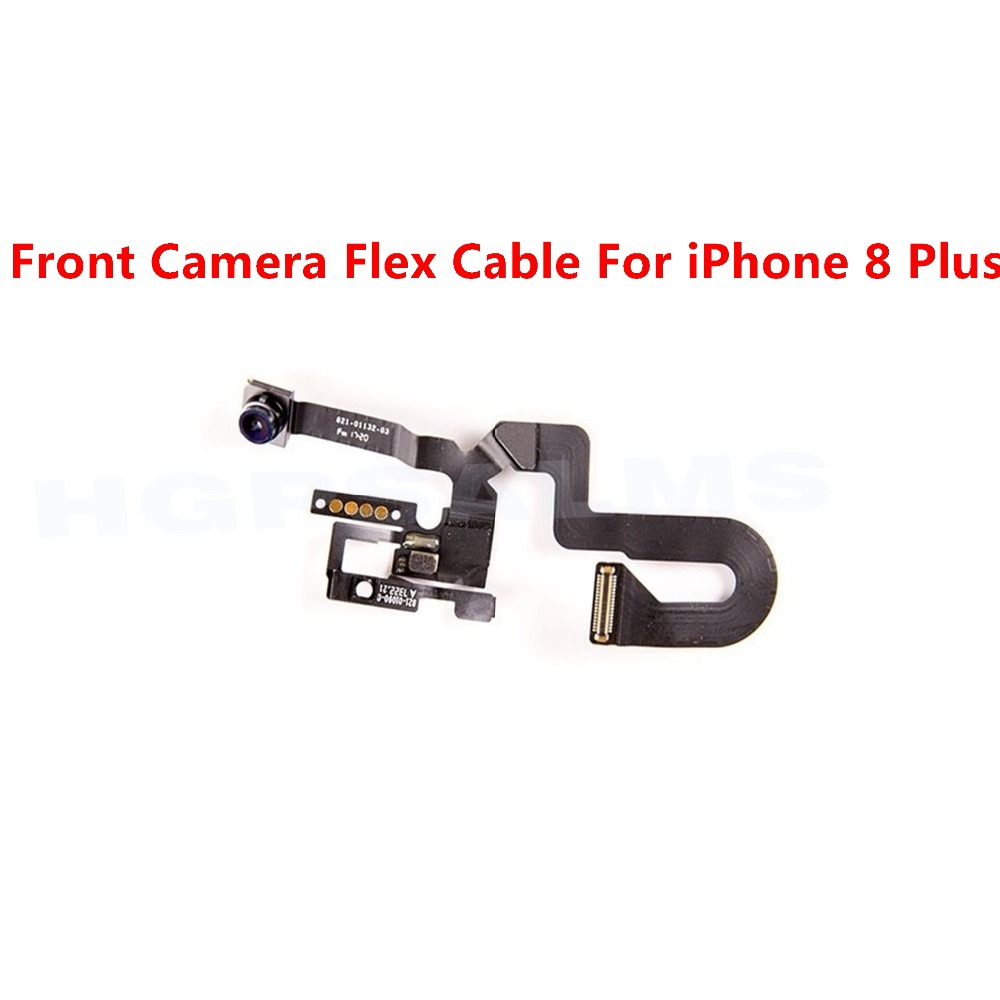 High Quality Front Camera Flex Cable Camera Ring Holder For iPhone 8 Plus Front Facing Camera Lens