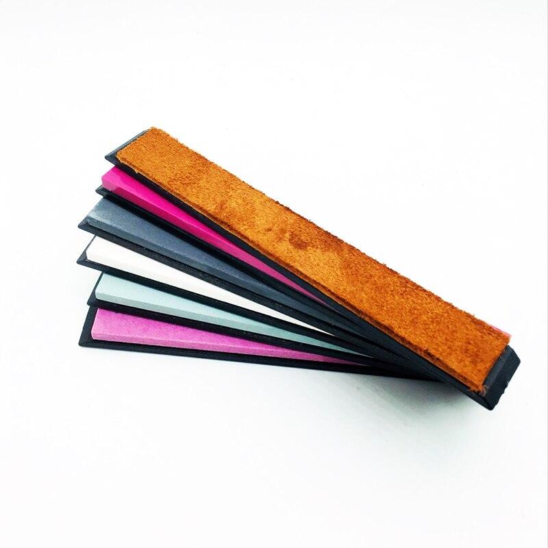 whetstone knife sharpener professional set 5stones plus 1 leather corundum stone ruby stone Sy Tools Pro