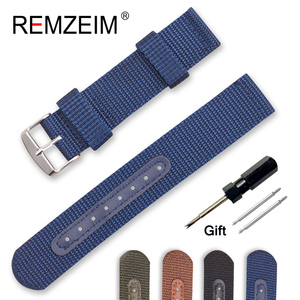 Nylon Canvas Watch Band 18mm 2