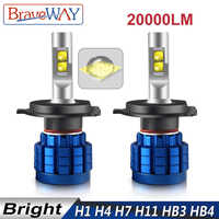 BraveWay 20000LM LED Auto Lamp H1 H4 H8 H9 H11 HB3 HB4 9005 9006 Headlight LED H7 Canbus H11 H7 LED Bulb Light Bulbs for Cars