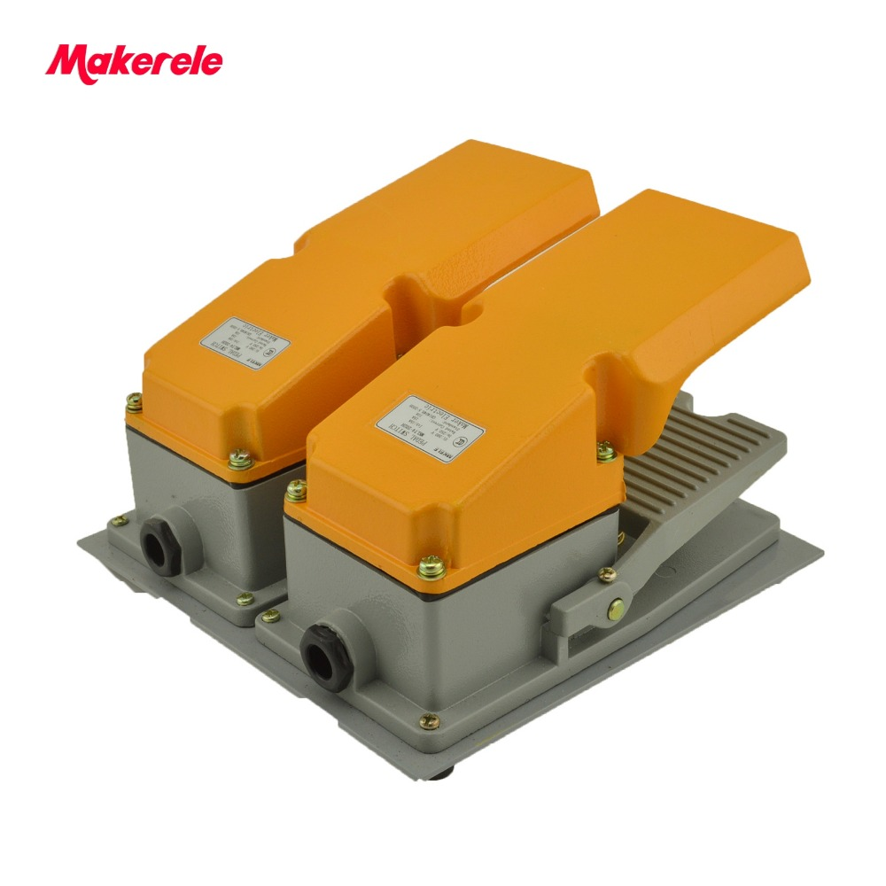 MKLT4-202H factory price cheap CE Newest latest metal double pedal foot switch for bending machine punch hot sale lt4 202h factory price cheap ce newest latest metal double pedal foot switch for bending machine punch