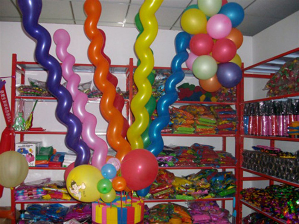 2016 multi colors twist latex balloon screw magic balloon for Balloon decoration for kids party