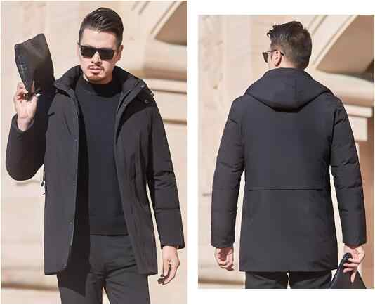 Men's jacket plus velvet padded down padded jacket
