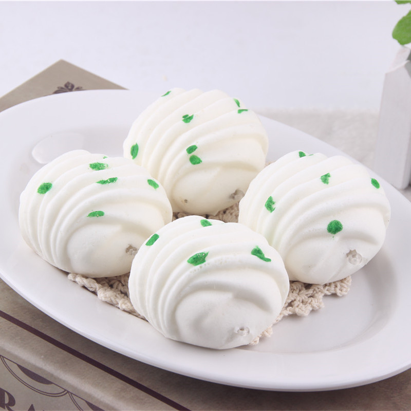 6CM Kids Kitchen Toys Steamed Bread Hanamaki Foam Similation Slow Raising Squishy Toy Fools Day Cooking Props