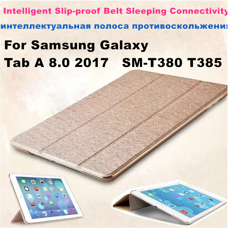 Case Cover For Samsung Galaxy Tab A 8.0 2017 SM-T380 T385 PU Slim Smart Stand Case For Galaxy Tab A 8.0 T380 Tablet Funda Case
