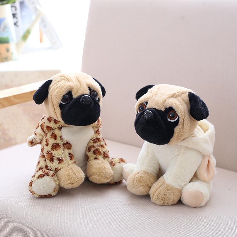 2019 New Stuffed Simulation Dogs Plush Sharpei Pug Lovely Puppy Pet Toy Animal  Anime Children Kids Gifts 20cm
