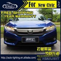 AKD Car Styling Head Lamp for Honda Civic LED Headlight 2016 New Civic X Headlight DRL H7 D2H Hid Option Angel Eye Bi Xenon Beam