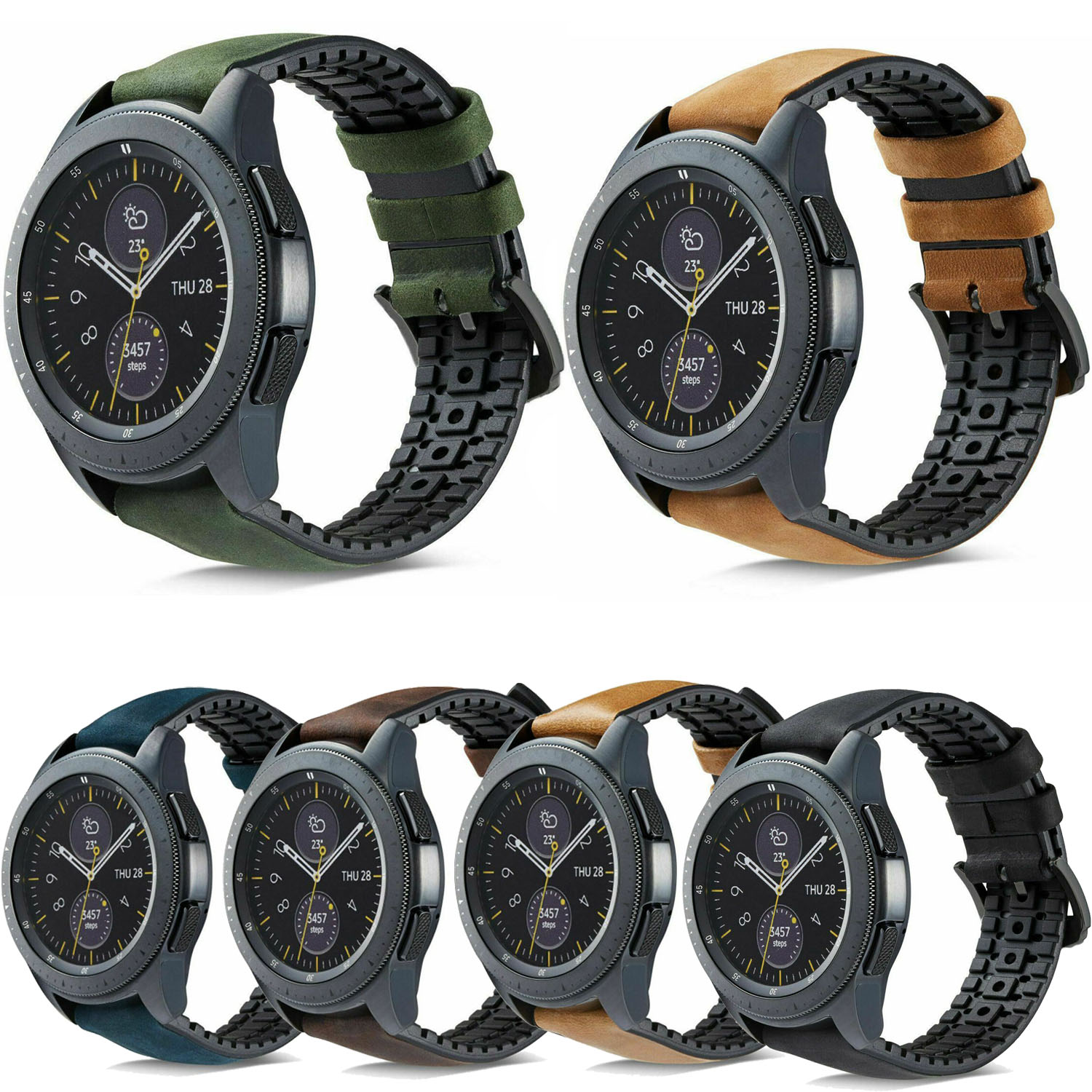 Silicone Leather Strap For Samsung Galaxy Watch 42mm 46mm Band For Gear S2 S3 Classic Frontier Band For Huawei Watch GT Strap