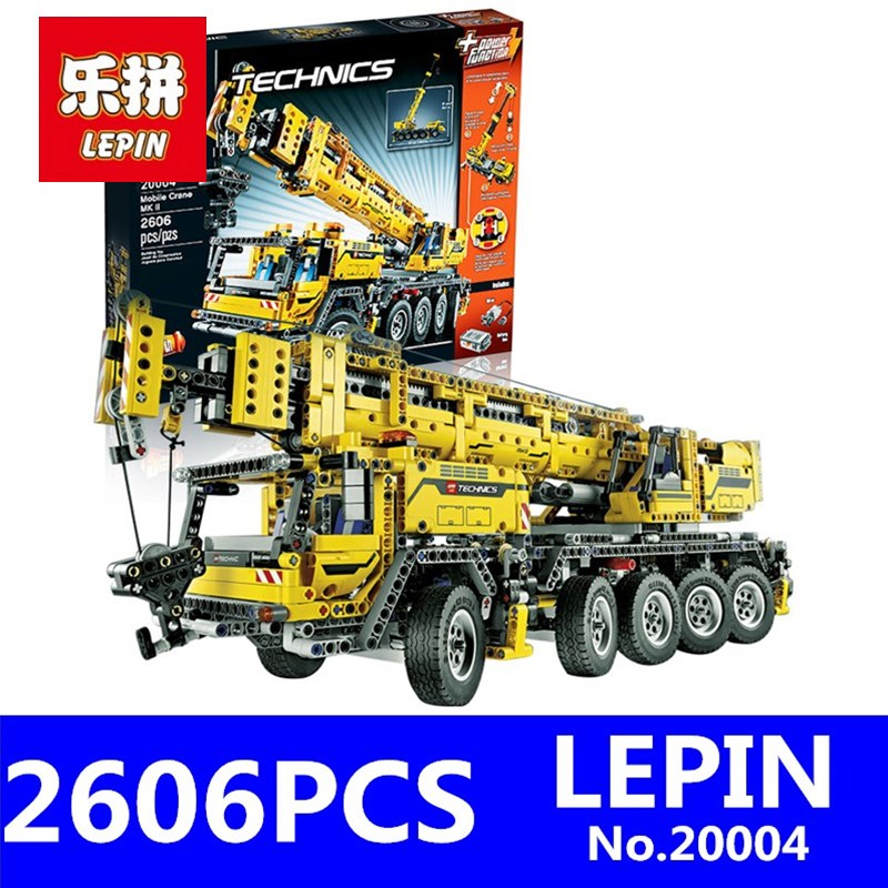 Motor Power Mobile Crane MK Model LEPIN 20004 2606pcs Technic Series Children Educational Building Blocks Bricks Compatible Gift e27 e40 led corn light frosted cover soft light energy saving high power led light to replace the conventional cfl bulb