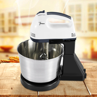 Kitchen Electric Mixer Machine 100W Egg Beaters 7 Speeds Homemade Cake Muffins Dough Food Maker Machine