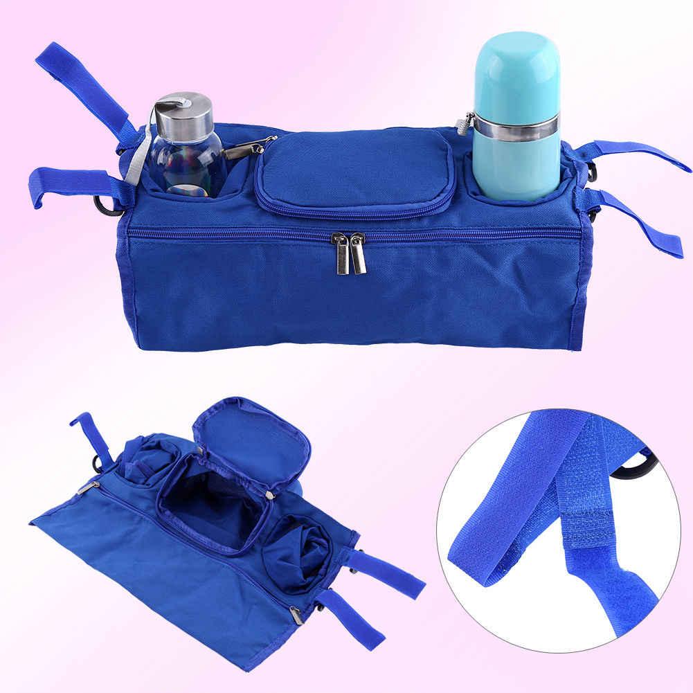 1 piezas bebé niña niños Hangable bolsa de almacenamiento bolsa cochecito Buggy de cochecito bolsa Traver organizador de la taza de la botella de la caso
