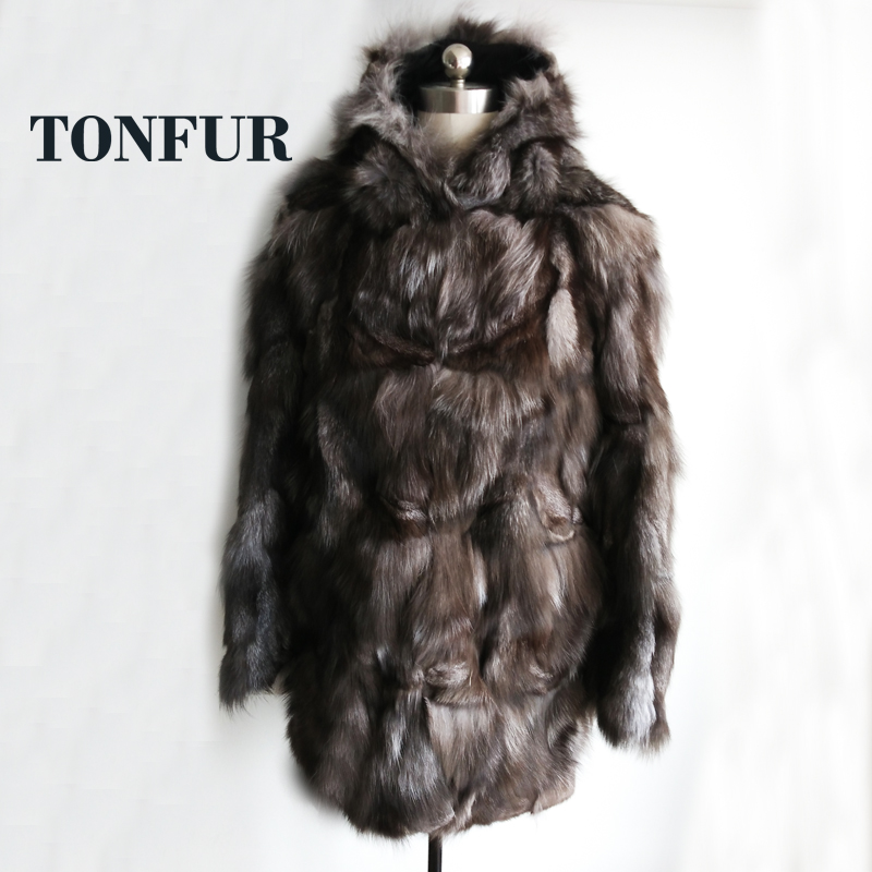 2019 Factory Direct X Long Real Genuine Fox Fur Coat Natural Plus Size Thick Warm Winter
