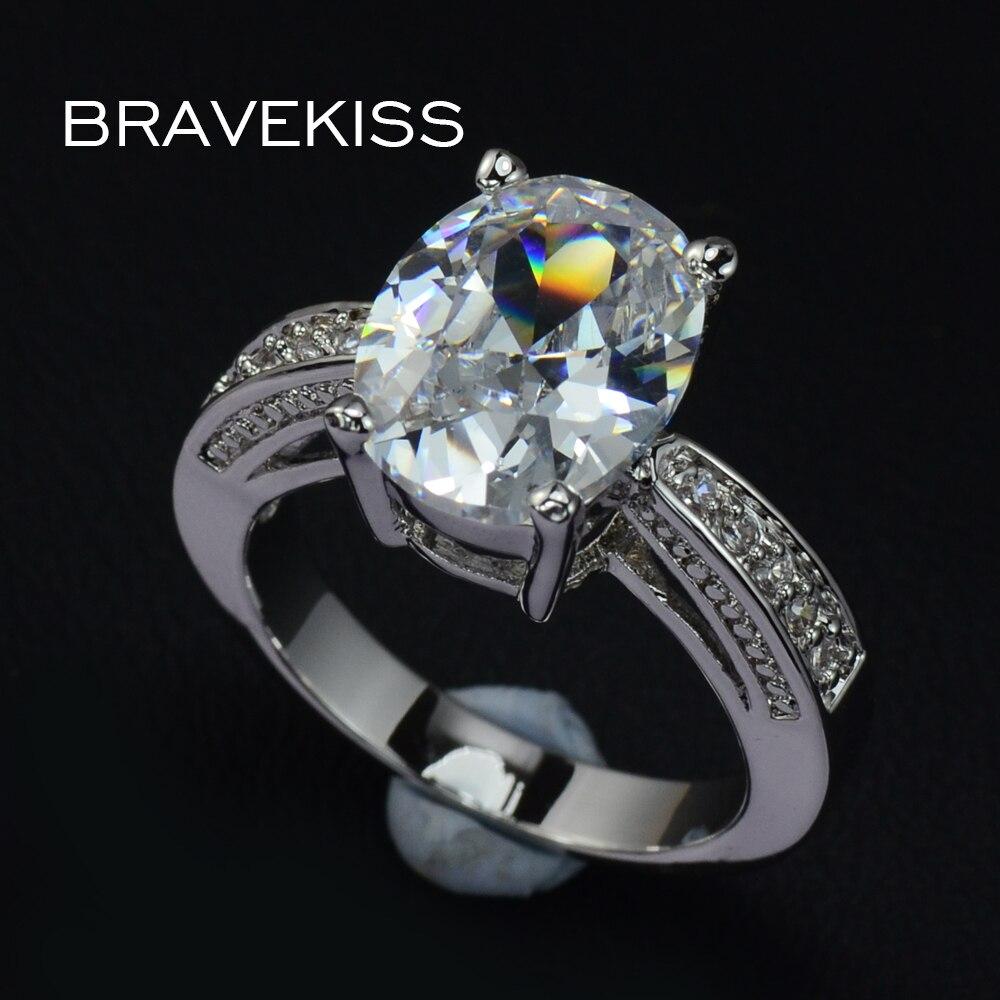 Bravekiss Hochzeit Ringe Big Kristall Engagement Ring Bands Für Frauen Weiß Zirkon Kathedrale Ringen Bijoux Anillos Schmuck Bur0004