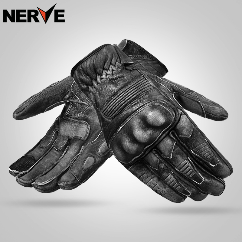 Nerve Protective Gear Performance Sheepskin gloves Bike Motorcycle Motorbike moto Racing cycling Gloves breathable, water resist scoyco motorcycle riding knee protector extreme sports knee pads bycle cycling bike racing tactal skate protective ear