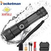 Mais poderoso xhp50 mais poderosa lanterna usb zoomable led tocha xhp50.2 18650 bateria recarregável caça z50|Lanternas| |  -