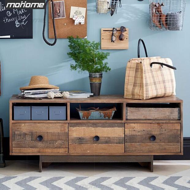 Estilo americano de madera maciza mueble TV gabinete entrada ...