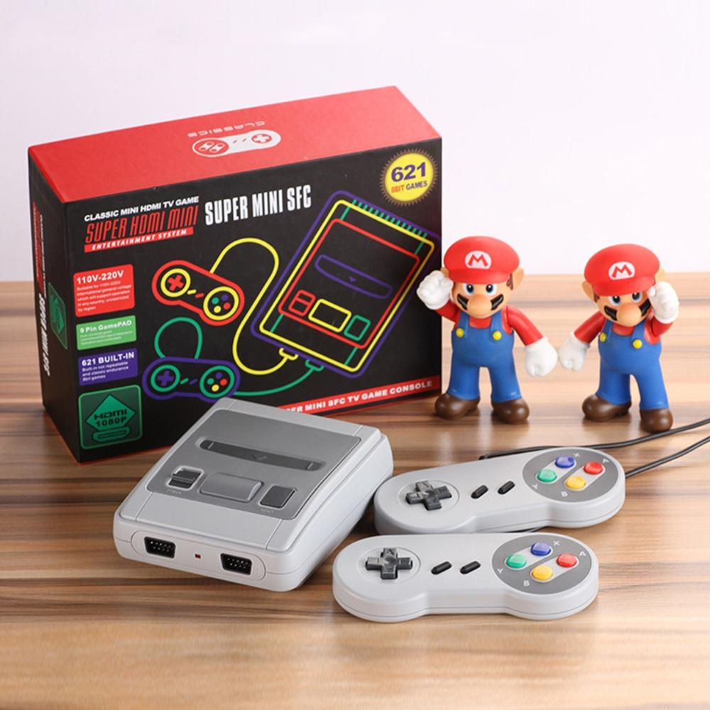 Mini HDMI TV Game Console 8 Bit Retro Video Game Console Built-In 621 Games AV output Handheld Gaming Player Best Gift