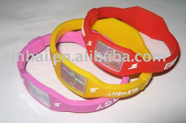 newly Silicone Power Bracelet with customized design and logo