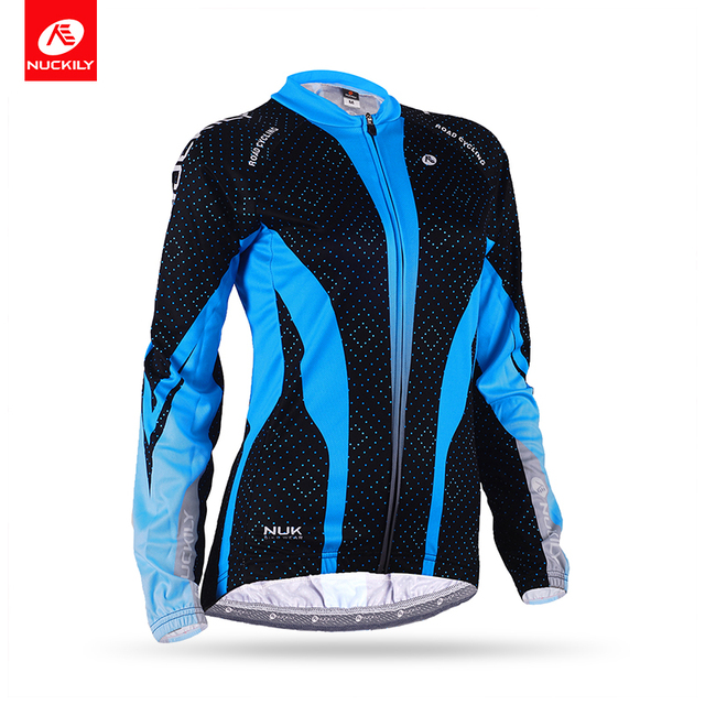 NUCKILY Women s Winter thermal Bike Jersey Reflective Warm Cycling Winter  Jacket Bicycle Clothing GE007 e64264295