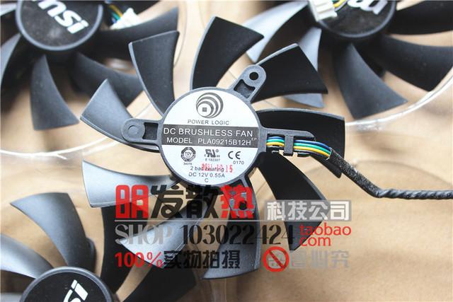 N560GTX N460GTX 580GTX 570 HD6870 placa de vídeo fã PLA09215B12H