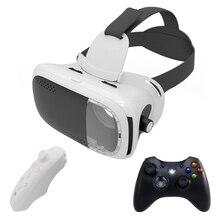 Vr коробка 3D гарнитура виртуальной реальности Очки/очки Google cardboard 3D Очки для смартфонов с Беспроводной Пульты ДУ джойстик