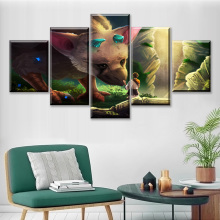 цены Home Decor Modular Canvas Picture 5 Piece The Last Guardian Game Art Painting Poster Wall For Home Canvas Painting Wholesale