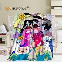 Adventure Time 03 Blanket Soft DIY Sofa Bed Throw Blanket Kid Adult Warm Custom Blanket 56x80Inch50X60Inch40X50Inch