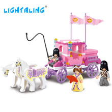 Lightaling Royal Carriage Wagon Building Blocks Princess Figures Girl Game Kids Brick Toys Compatible with Brand Friends Series