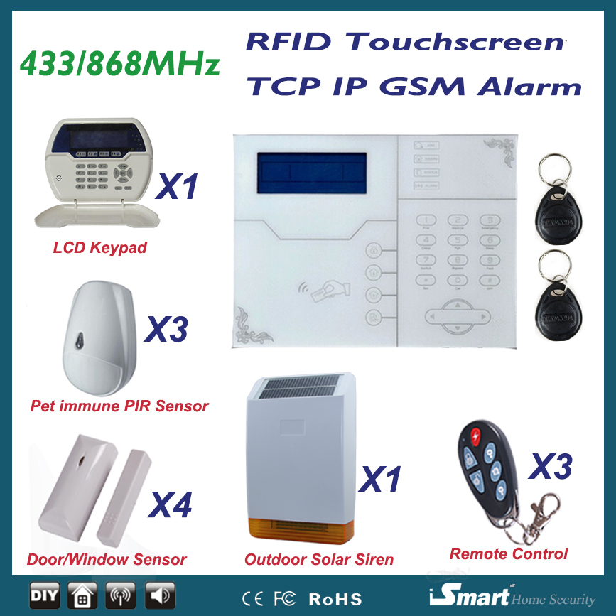 2015 New Alarma Casa TCP/IP Network GSM Alarm System for Home/Residental with Doorway Keypad and Outdoor Flash Siren forecasting us home prices with neural network and fuzzy methods