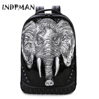 Men Bag New Male Fashion Pu Leather Chest Bag Solid Zipper Elephant Casual Mochila Large European