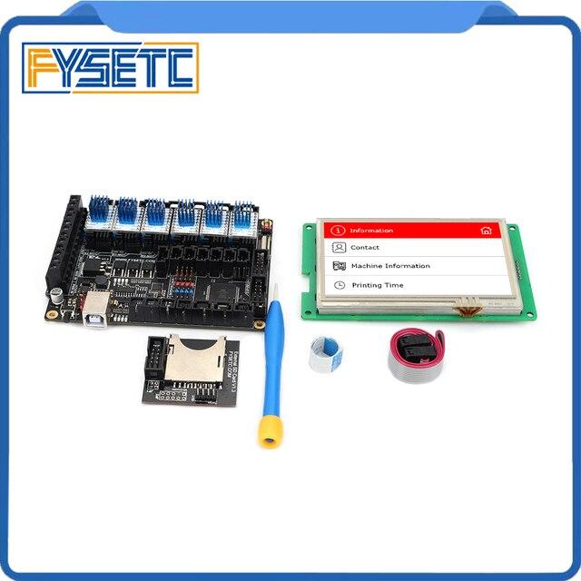 """Fysetc F6 V1.3 Tất Cả Trong Một Mainboard + 4.3 """"Màn Hình Cảm Ứng + Bộ 6 TMC2100/TMC2208 /TMC2130 V1.2/DRV8825/S109/A4988/ST820"""