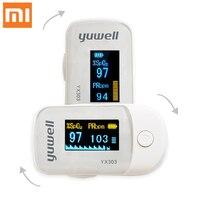 Oiginal xiaomi Yuwell YX305 YX303 oxímetro de pulso de Punta Digital para la pantalla OLED para la salud sensor de alta velocidad Auto power de Control remoto inteligente     -