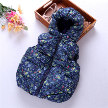 winter baby girl vest flower floral kids coat outfit jacket hooded worm children clothes boutiques fashion
