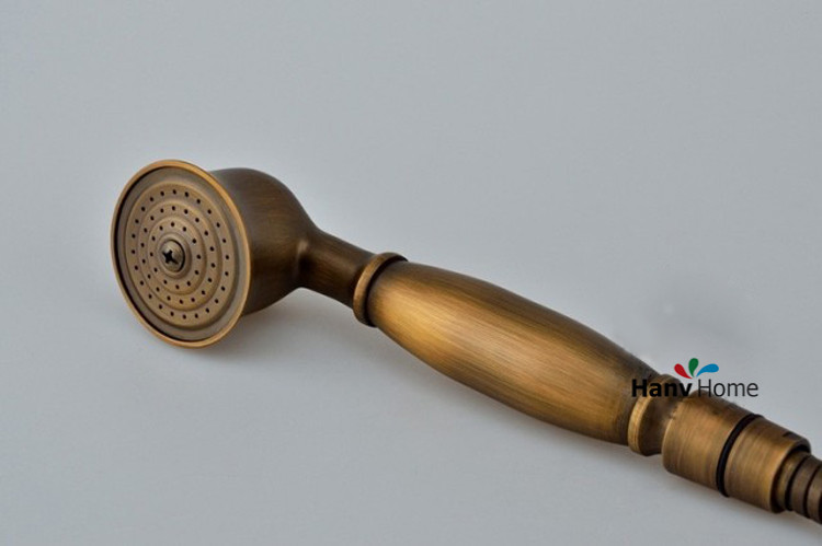 Antique Brass Classical Telephone Hand Held Shower Head & 150cm ...