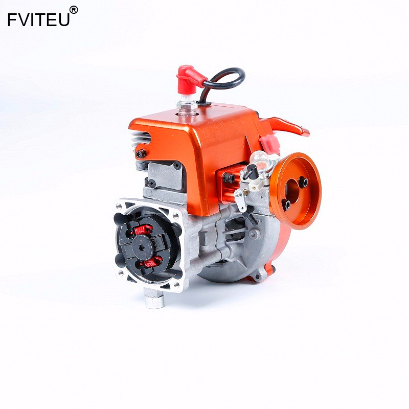 FVITEU CNC 36cc 2 stroke gas 4-bolt <font><b>motor</b></font> engine with Walbro <font><b>1107</b></font> and NGK Spark plug fit 1/5 Scale RC vehicles HPI LOSI Rovan image