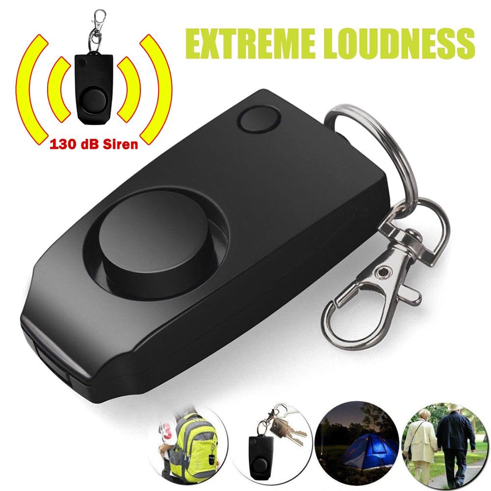 Mini dispositivo keychian de alarme pessoal para mulheres, meninas, idosos, alerta pessoal e segurança, ansiedade, anti-rapto, 2020