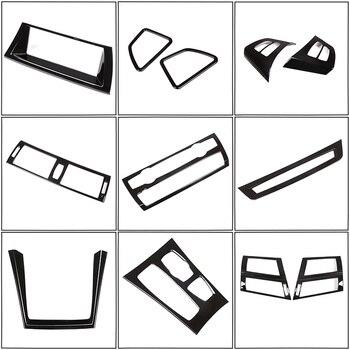цена на Glossy Black ABS Car Interior Steering Wheel Decoration Strip Frame Cover Trim Sticker For BMW X5 X6 E70 E71 2008-2013