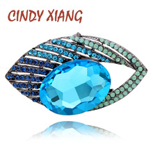 CINDY XIANG New Arrival Large Blue Eye Brooches For Women Autumn Design Coat Brooch Fashion Jewelry Vintage Accessories Gift