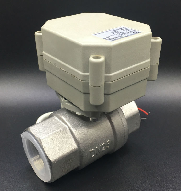 CE Approved TF25 S2 A 2 Way BSP NPT 1 Electric Stainless Steel Valve DC12V DC24V