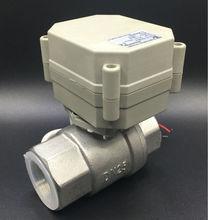 CE утвержден TF25-S2-A 2-способ BSP/NPT 1 »Электрический Нержавеющая сталь Клапан DC12V/DC24V 2/3 /5/7 провода
