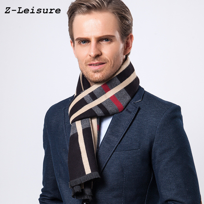 Fashion Design Casual Scarves Winter Men's Cashmere Scarf Luxury Brand High Quality Warm  Scarves Men MSF001 on AliExpress