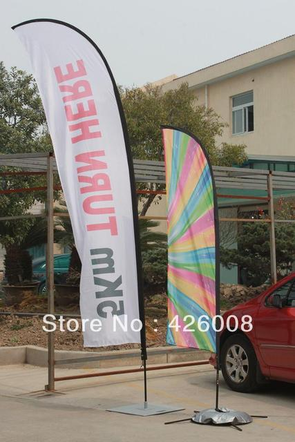 170g Woven Polyester Flag Screen Printing Beach Flag