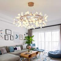 Firefly Anhänger Wohnzimmer Restaurant Postmodernen Einfache Nordeuropa Baum Blätter Kronleuchter|Kronleuchter|   -