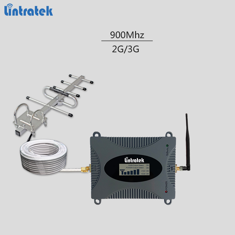 GSM celular signal repeater with LCD display 2G 900Mhz mobile signal booster UMTS cellphone amplifier full kit for home use #7